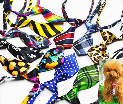 Animal Chat Chien Chiot Chaton Cravate Satin Réglable Cravate Col Motif Gb