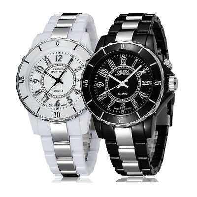OHSEN FG0736 Mens Classic LED Backlight Stainless Steel Sport Quartz Wrist Watch