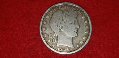 1906 Barber Half Dollar (50) Cents VG 90% Silver