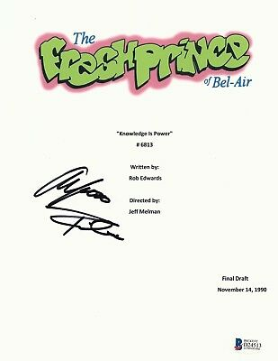 Alfonso Ribeiro Signed The Fresh Prince Of Bel Air Full Script