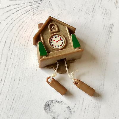 Vintage Sylvanian Families Tomy HTF Spares Accessories | Cuckoo Wall Clock