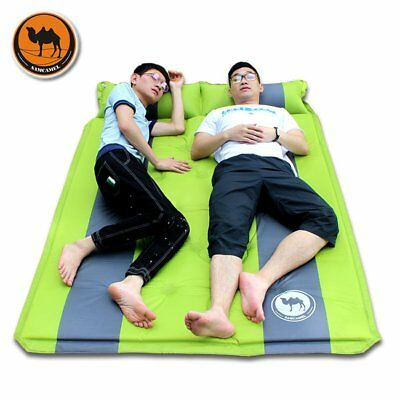 Desert Camel Moistureproof Camping Picnic Inflatable Sleeping Mat With Pillow GA