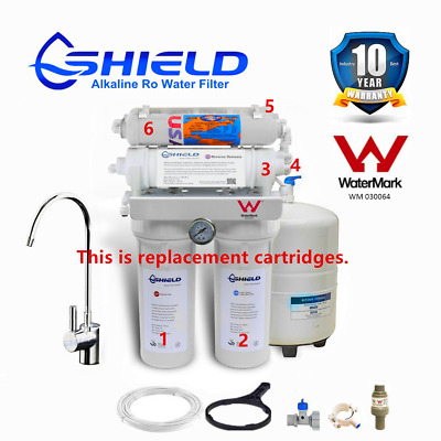 Shield 7 Stage Reverse Osmosis RO Water Filter System Replacement Cartridges   G