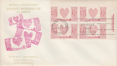 Canada #560 8¢ World Health Day Ur Plate Block First Day Cover