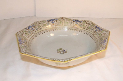 Antique Hand Painted, Gold Beaded Nippon Porcelain Bowl (1891 to 1921)