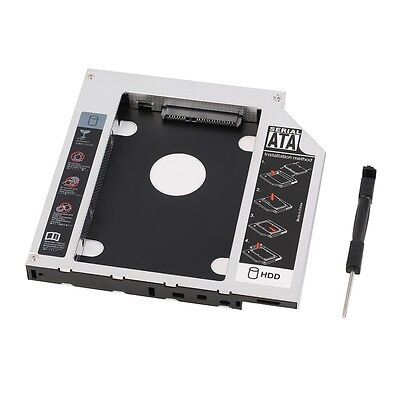 AU Universal 12.7mm SATA 2nd SSD HDD Hard Drive Caddy for DVD-ROM CD Optical IA