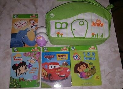 Leap Frog Tag Reader Junior with 4 books and Carry case