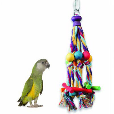 Parrot Bird Toys Colored Bite Climb Chewing Toy Hanging Swing Cage Decor