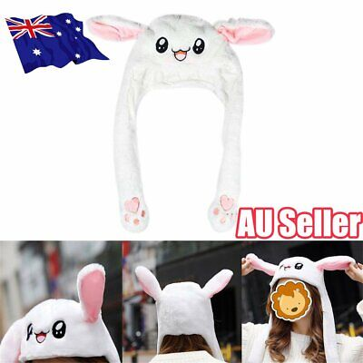 Funny Ear Up Down Rabbit Hat Playtoy Cute Bunny Plush Hat Gift for Kids Girls ON