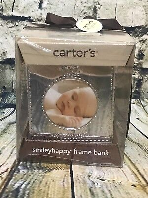 Carter's Silver Cube Picture Frame Bank - Baby Shower Gift, Nursery Decor