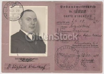 Siegfried Krautkopf German Political Author Vintage 1930s Nazi Germany Passport
