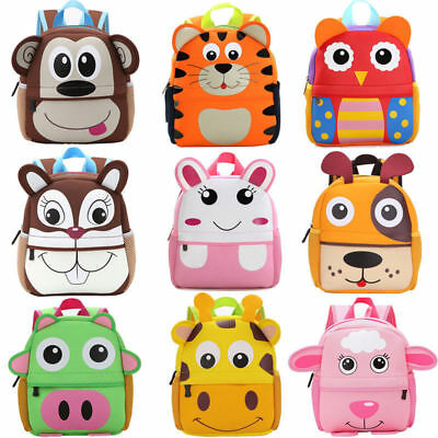 Kid Toddler Backpack Kindergarten Schoolbag Baby Cartoon Animal Bag Shoulder Bag