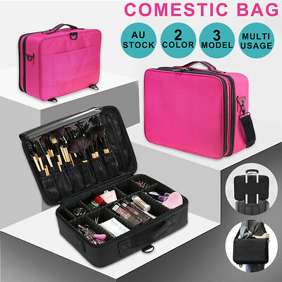 Professional Makeup Bag Portable Handle Organizer Cosmetic Case Storage Box