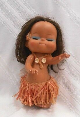Vintage Rubber Hula Doll Hawaiian souvenir made in Japan See Pictures