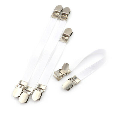 4 x Ironing Board Cover Clip Fasteners Tight Fit Elastic Brace Ties StrapsGripSE