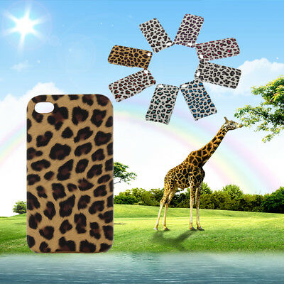 Leopard Style Back Case Skin Cover for Iphone 4 SR