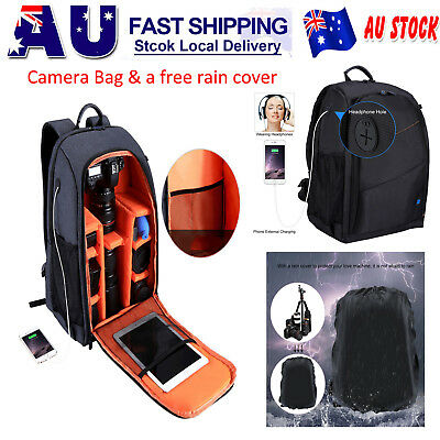 PULUZ DSLR SLR Camera Tripod Backpack Bag Case Waterproof for Canon Nikon