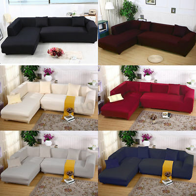 EASY 2+2 Seater Sofa Cover Slipcover Stretch Elastic Couch L Shape AU STOCK