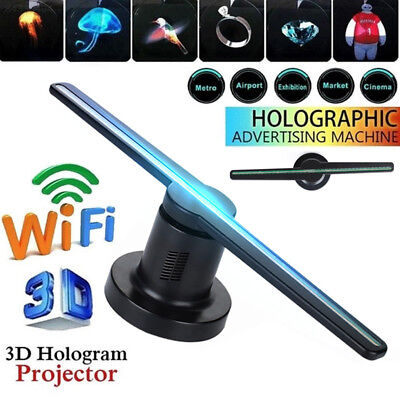 81B1 3D Hologram Dispaly Projector Fan Funny 42cm WIFI Holographic Lamp