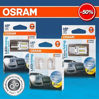2x OSRAM LED WHITE T10 T20 P21 W5W W21W P21W Car Light Bulb 60/6700K -80% Energy
