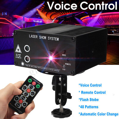 48 Pattern Mini Laser Projector Stage Lights LED RGB Lighting Party DJ Disco KTV