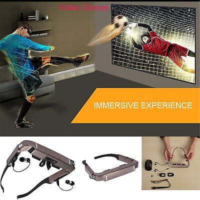 3D Video Glasses Android 4.4 Side By Side Video 5MP Camera Bluetooth Vision 800