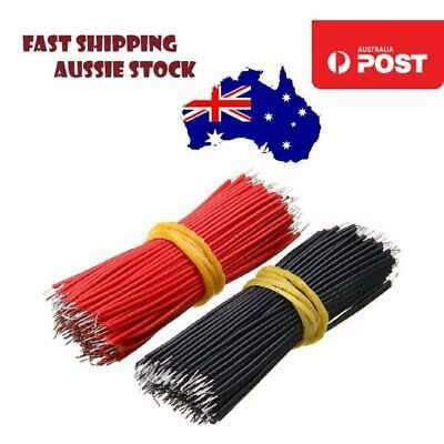 400pcs 6cm Breadboard Jumper Cable Wire Black & Red Tin-Plated For Arduino