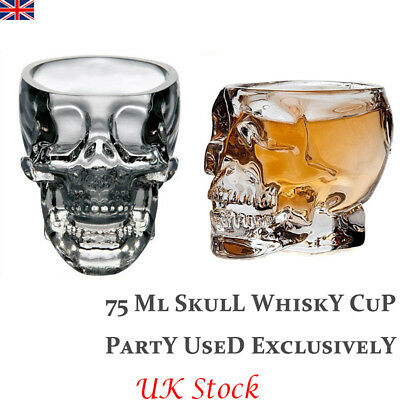 Crystal Glass Skull Cup Beer Wine Vodka Whiskey Bottle Party Club Bar Halloween