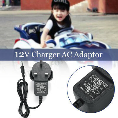 12V Universal Ride on Car Battery Charger Adapter Plug 1A For Jeep Kids Bike Car