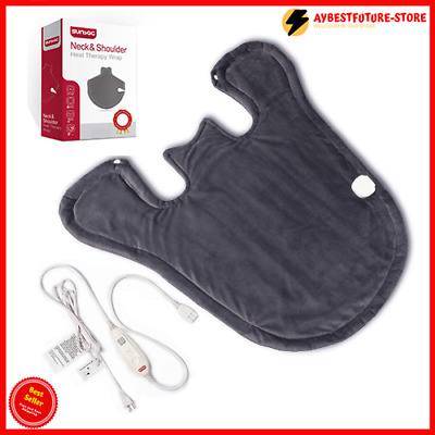 Extra Large Neck and Shoulder Heating Pad, Electric Heating Wrap for Back Pain