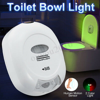 Automatic Toilet Bowl Night Light 2 Color Lamp LED Motion Sensor Activated Glow