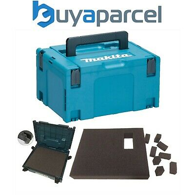 Makita MAKPAC Stacking Connector Tool Case Systainer TYPE 3 + Foam Insert