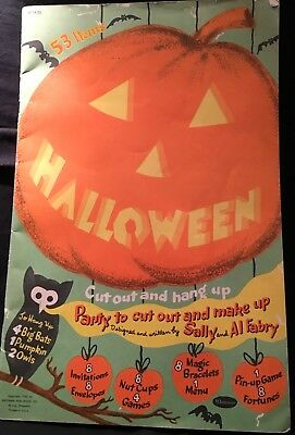Vintage 1953 Whitman Halloween Party Book