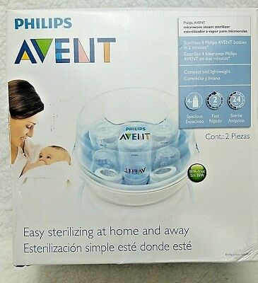 Philips Avent Microwave Steam Sterilizer 3 in 1 for 4 Baby Bottles BPA free