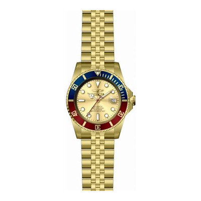 Invicta Men's 29183 Pro Diver Automatic 3 Hand Gold Dial Watch