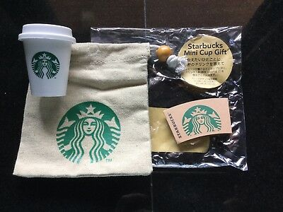 2018 Starbucks Japan Holiday Mini Cup Gift Set w/ Siren Pouch / Bag -No Card