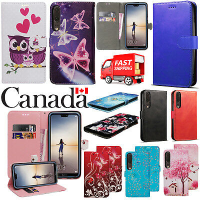 For Huawei P20  - Luxury Shockproof PU Leather Wallet Flip Stand Case Cover