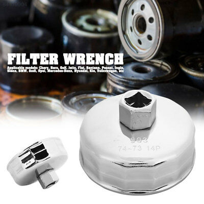 C4C2 Car Oil Filter Wrench 74mm Silver Motivx Tools