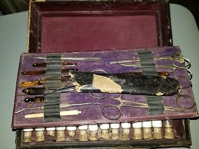 Rare 1820S George Tiemann Antique Vintage Surgical/ Medical Set Over 50 Bottles