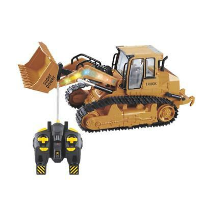 RC Bulldozer 6CH Remote Control Simulation Truck Construction Model Vehicle Car