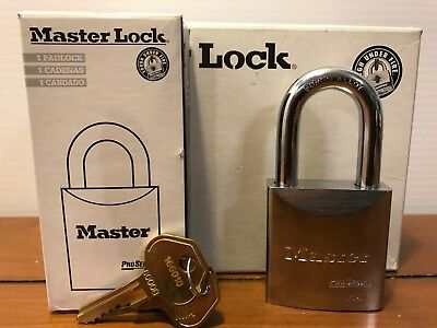 "MASTER LOCK (Lot of 6) Keyed Alike Padlock 2"" W Solid Steel New Security 7050KA"