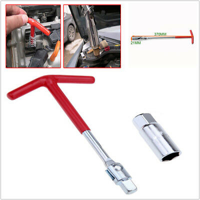 1PCS Spark Plug Removal Tool 21mm T-Bar T-Handle Spanner Socket Wrench Flexible