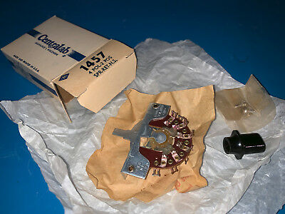 Centralab 1457 Switch, 4 Pole, 2 Position, NOS, Vintage, CRL1457