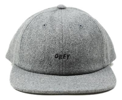 9a23710350b OBEY MENS KILSON Wool 6 Panel Snapback Hat Heather Size One Size New ...