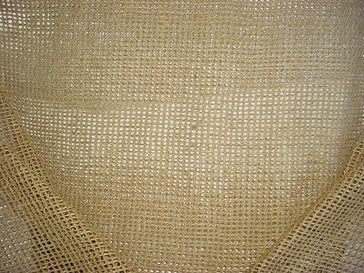 12-3/4Y Incredible Schumacher Italian Raw Silk Netting Upholstery Drapery Fabric