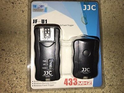 JJC JF-U1 433MHz Wireless Flash Trigger Remote Control For Nikon SB-900 SB-800