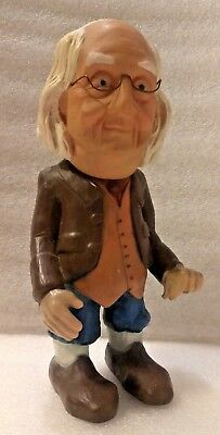"""Vintage 1980 The Benjamin Franklin Coin Bank-Advertising-By Will Vinton-11"""" Tall"""