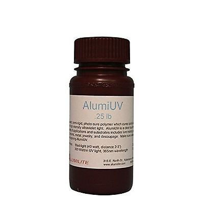 NEW Alumilite AlumiUV Crystal Clear Doming & Coating Resin for High Gloss 0.25lb
