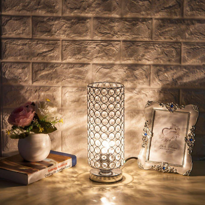 NEW Crystal Table Lamp, Nightstand Decorative Room Desk Night Light for room US