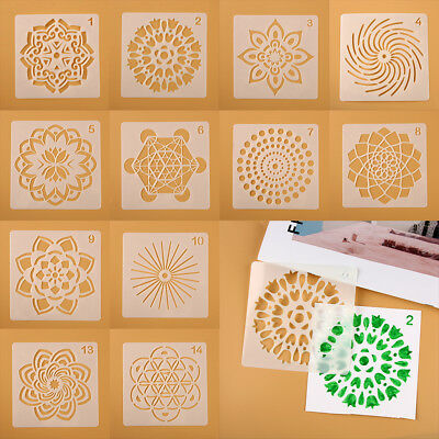 Decorative Layering Stencils Painting template Mandala Auxiliary Scrapbooking